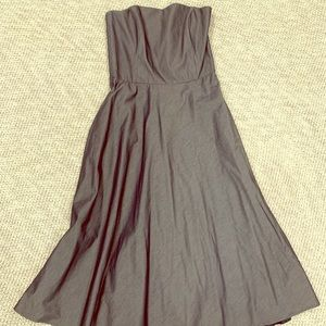Banana Republic Strapless Tea Length Dress